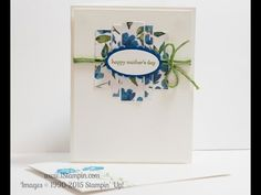 Are you still looking for the perfect Mother's Day card? Look no further...visit www.iStampin.com to learn more.