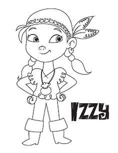 izzy coloring pages | 53 mejores imágenes de piratas | Piratas, Piratas ...