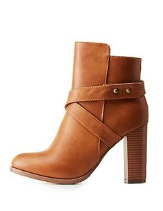 Belted Chunky Heel Booties