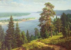 "Photo from album ""Живопись"" on Yandex. Russian Painting, Russian Art, Landscape Art, Landscape Paintings, Hudson River School, Seascape Art, Academic Art, Impressionist Paintings, Oil Paintings"