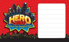 Vacation Bible School 2017 VBS Hero Central Outdoor Banner | Cokesbury