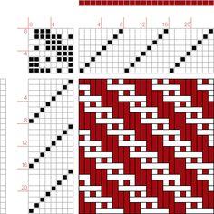 draft image: Figure 1373, A Handbook of Weaves by G. H. Oelsner, 8S, 8T