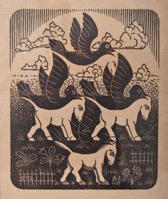 M.C. Escher  Horses and Birds · 1949