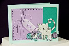 Meow Card by Erin Lincoln for Papertrey Ink (June 2014)