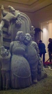 St. Regis Sand Sculpture of Santa and Mrs. Claus  www.kidslifesocal.blogspot.com