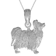 Elegant Sterling Silver Sparkle-Cut Cocker Spaniel Dog Charm Pendant Necklace