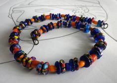 Glasperlenschmuck - Collier Krobo Beads Quana - ein Designerstück von sibea bei DaWanda
