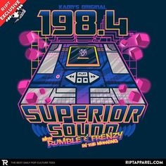 Broadcasting Starscream since 1984.  Click on the link in the bio NOW to get this tee - \'\'Superior Sound\'\' by @atomicrocket  #RIPTapparel #RIPT #Geek #Nerd #GeekLife #NerdLife #Nerdgasm #Tee #Tshirt #Style #GraphicTee #Outfit #OutfitOfTheDay #InstaFashion #GeekStyle #Design #Art #GeekArt #NerdArt