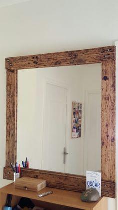 Palette Wood mirroir