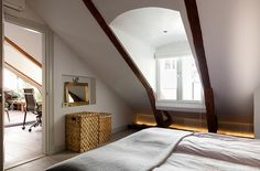 An attic apartment in Stockholm