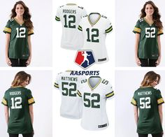 4e6bfd6edc1be Camisa Green Bay Packers - 12 Rodgers - 52 Matthews - 80 Graham - FEMININA