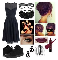 """""""school dance outfit?"""" by nerdgirl070 ❤ liked on Polyvore featuring J.Crew, Converse and Avenue"""