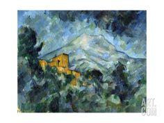 Giclee Print: Mont Sainte-Victoire and Château Noir by Paul Cézanne : Paul Cézanne, Canvas Art, Canvas Prints, Big Canvas, Canvas Size, Poster Art, French Artists, Art Reproductions, Impressionism