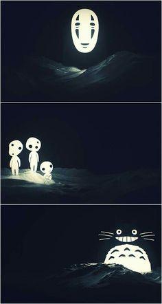 El viaje de Chihiro, La princesa Mononoke y Mi vecino Totoro