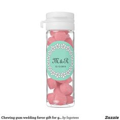 Chewing gum wedding favor gift for guests chewing gum favors
