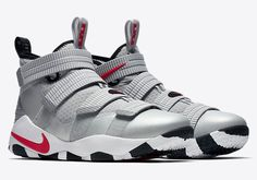 a0fd2105ec08 CLICK IMAGE FOR LARGER VIEW LeBron Soldier XI Metallic Silver