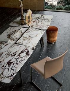 Extending rectangular marble table FONTANA   Marble table by Draenert