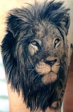 "Tatuaje de león ""Cada rey ..."" - 50 Ejemplos de León Tattoo <3!"