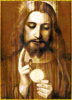 Present in Eucharist Pictures Of Jesus Christ, Religious Pictures, Catholic Art, Religious Art, Roman Catholic, Jesus Face, Les Religions, Jesus Is Lord, Blessed Mother