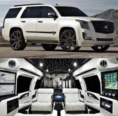 2018 Bunker conversion of Cadillac Escalade - Autos 2019 Luxury Sports Cars, Top Luxury Cars, Cadillac Escalade, Luxury Van, Luxury Life, Lux Cars, Fancy Cars, Expensive Cars, Bunker