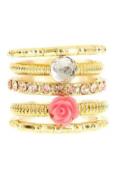 Flower Stack Ring Set by Beyond Rings on @HauteLook