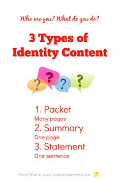 Tips for writing better content that explains your organization's identity with Word Wise at Nonprofit Copywriter Writing Websites, Writing Resources, Easy Writing, Writing Tips, Writing A Business Plan, Business Planning, Writers Write, Writing Process, Copywriting