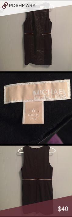 Michael Kors Pleather Dress Beautiful Michael Kors Pleather dress. Perfect for work or a GNO. Wore it twice. MICHAEL Michael Kors Dresses Midi