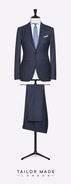 Tailor Made London Navy Blue 2-piece suit.