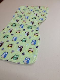 Mint Green Woodland Owl Burp Cloth by BabyBubbaSteps on Etsy