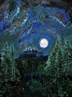 """Child Of The Moon"" Golden Artist Colors Acrylic canvas Original Artwork by Graham Elvis Artistic Photography, Types Of Art, Graham, Original Artwork, Sculptures, Moon, Child, The Originals, Canvas"