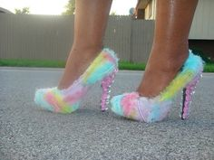 Check out these fancy shoes...Cotton Candy Custom unique High Heel PUmP by BLCustomDesignShoes, $140.00