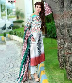 Lala Classic Cotton Embroidered lawn Suits Vol 1. CCE_08B
