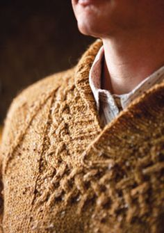 Find all sorts of stitches in this collection, including this cable knit sweater. #Free #Knitting patterns