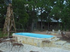 Unwind in our Texas size hot tub that seats 14!