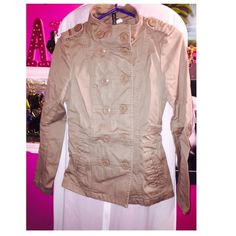 Jacket Very cute coat, gently used has little stains as shown on picture, but not noticeable at all. H&M Jackets & Coats