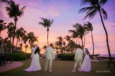 What a beautiful landscape! Two weddings on the same day.  #bride #groom #weddings #landscape #zurafilmproductions #destinationwedding #professionalphotography #twoweddings #palmtrees