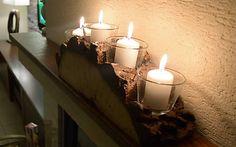 Wood / Vianočný svietnik