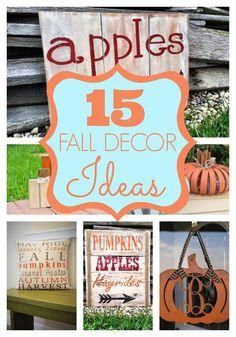 15 fabulous fall decor ideas for your home. #wreath #crafts #art #fall #autumn #decor #decorations #homedecor