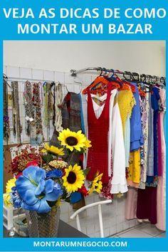Você pensa em montar um bazar? Então veja as dicas passo a passo para abrir um bazar de sucesso e ganhar dinheiro Ideas Para, Marketing, Outdoor Decor, Finance Tips, Inspiration, Business, Top, Make And Sell, Bazaar Ideas