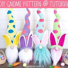 Gnome Tutorial, Gnome Hat, Halloween Party Supplies, Easter Crafts, Easter Ideas, Christmas Gnome, Shutterfly, Pdf Sewing Patterns, Diy Crafts To Sell