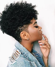 Short natural hair long on top undercut  #natural #naturalhairstyles #short #undercut