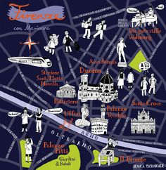 illustrated map of florence - Google Search