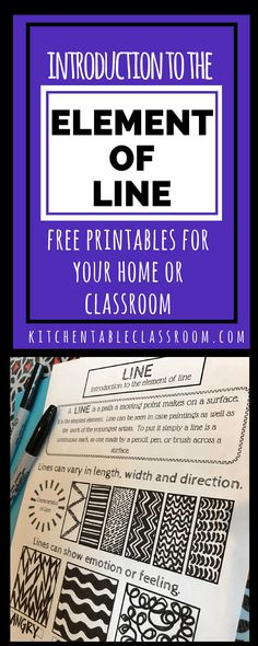 Types of Lines in Art- A Free Element of Line Printable Line in art is an easy start! Line is an essential element of art and a great place to start with kids because it is so unintimidating. Elements Of Art Line, Elements And Principles, Art Lessons For Kids, Art Lessons Elementary, High School Art, Middle School Art, Programme D'art, Classe D'art, Art Handouts