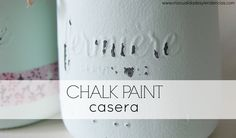 Cómo hacer chalk paint casera www.manualidadesytendencias.com #chalkpaint #manualidades #pintura #diy Diy And Crafts, Arts And Crafts, Chalky Paint, Waldorf Crafts, Ideas Hogar, Love Craft, Diy Painting, Artsy Fartsy, Painted Furniture