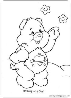 Coloring Pages - Care Bear Farm Animal Coloring Pages, Cute Coloring Pages, Cartoon Coloring Pages, Disney Coloring Pages, Printable Coloring Pages, Coloring For Kids, Adult Coloring Pages, Coloring Sheets, Coloring Books