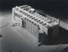 Model of BMCA by Richard Meier.