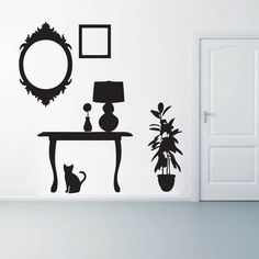Furniture Silhouettes Flowers and Shapes Wall Decals and Stickers