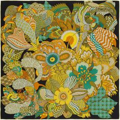 Not mens but anyway, Hermes FLEURS D'INDIENNES  Giant washed silk twill scarf