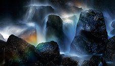 Rainbow in Tatsuzawa Falls (Urabandai, Japan)