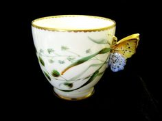 Royal Worcester 1889 Very Rare Antique Orphan Cup by Cupsofthepast, $125.00